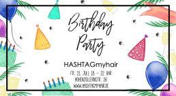 Birthday Party Hashtag my hair